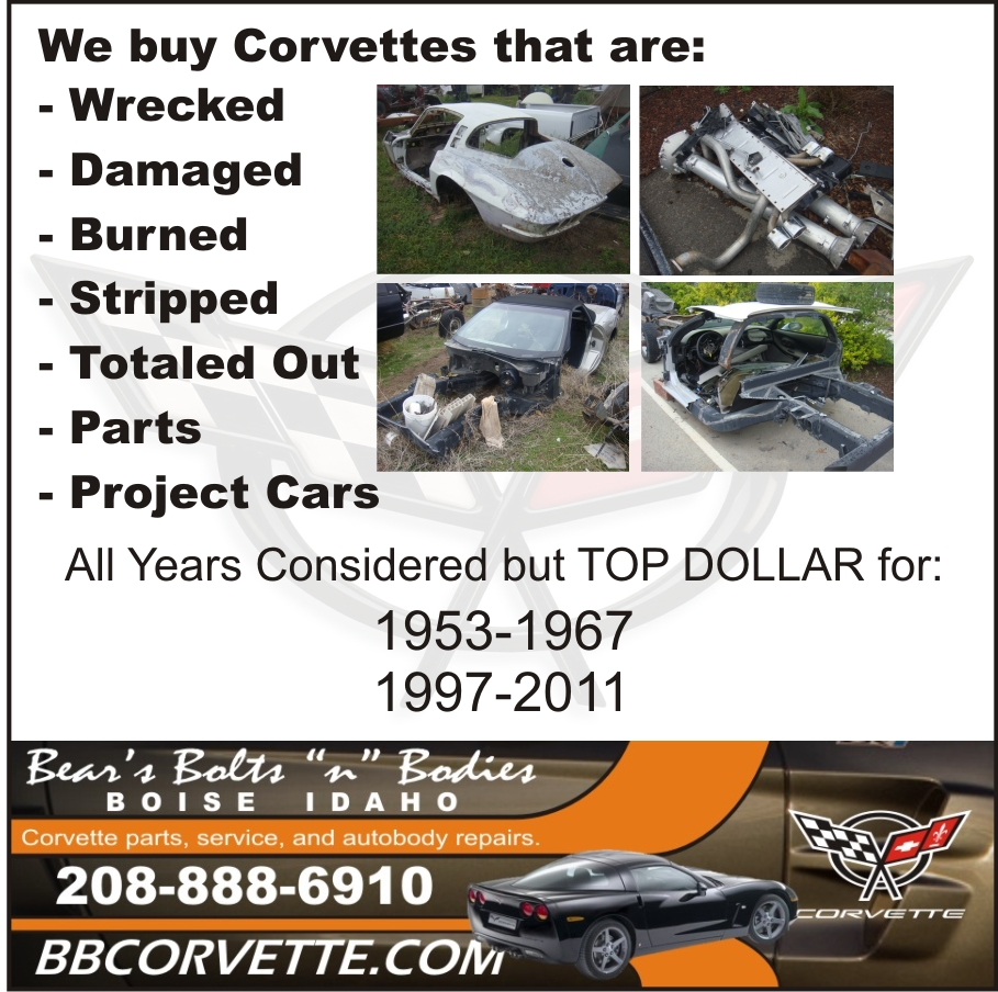 We Buy Corvettes That Are Wrecked, Damaged, Burned, Totaled Out, Old ...