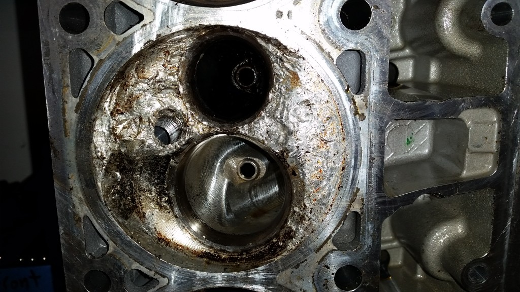 The inside of the cylinder head chamber got tore up pretty bad too.